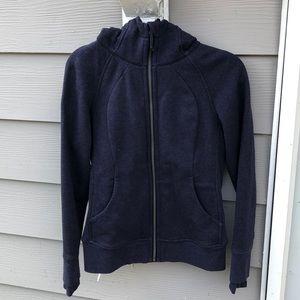 LuluLemon Blue Zip Front Heavy Hooded Sweatshirt 6